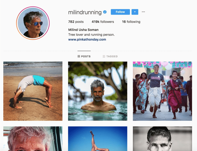 Milind Soman | Instagram Influencer